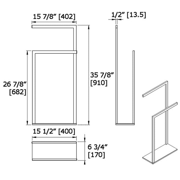 Floor Stand Double Towel Bar 9016