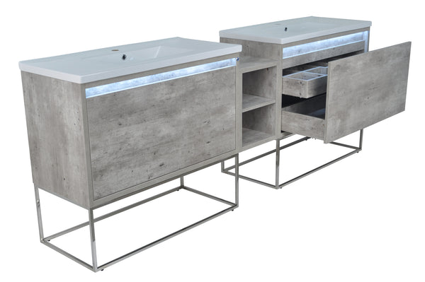 "94"" Casey Double Sink Vanity with Middle Cabinet"