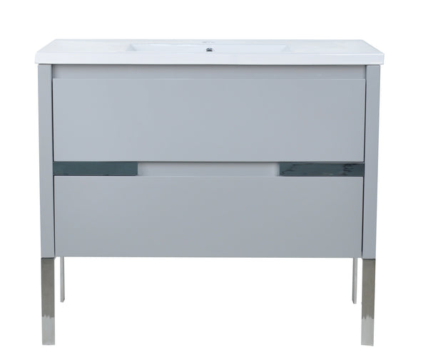 "40"" David Parisian Grey Vanity"