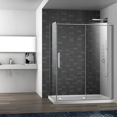 Slim Corner Frameless Shower Door