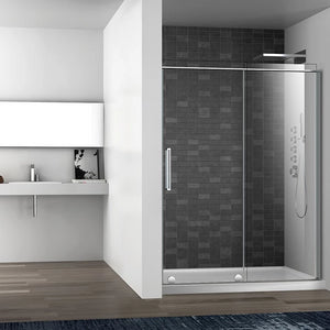 Slim Alcove Frameless Shower Door