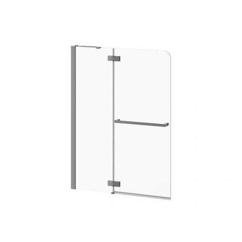 "Pratika Pivot Bath Shield with Fixed Panel 42"" X 56"""