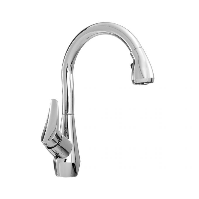 Neris Diver Pull Down Kitchen Faucet with Spray Head