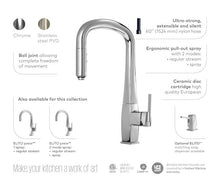 Load image into Gallery viewer, Eltio Collection Diver Pull Down Kitchen Faucet with Spray Head