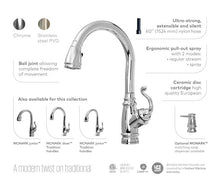 Load image into Gallery viewer, Monark Diver Pull Down Kitchen Faucet with Spray Head