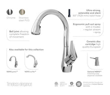 Load image into Gallery viewer, Neris Diver Pull Down Kitchen Faucet with Spray Head