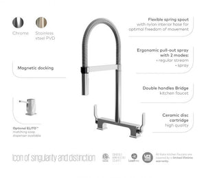 Skyridge Collection Kitchen Faucet with Spring Spout and Magnetic Spray Head