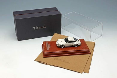 1:64 Make Up Titan64 Porsche 911 964 Singer Coupe Ivory White Resin