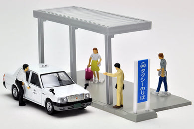Preorder - Tomy Tomica 1/64 Tlv Tomytec GeoColle 64 #Car Snap 04a Taxi Station - Released Date : Feb 2021