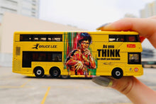Load image into Gallery viewer, Tiny City Die-cast Model Car - KMB VOLVO B8L WRIGHT Bruce Lee (Yellow)