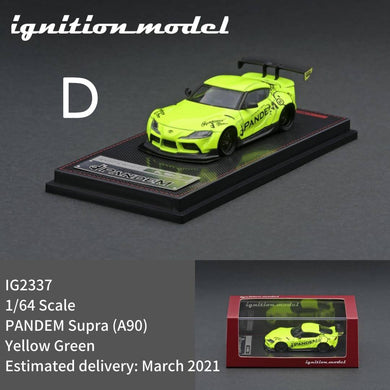 Preorder - ignition Model 1/64 PANDEM Supra (A90) - IG2337 : Yellow Green - Release Date : Mar 2021