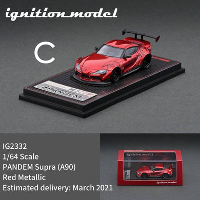 Preorder - ignition Model 1/64 PANDEM Supra (A90) - IG2332 Red Metallic - Release Date : Mar 2021