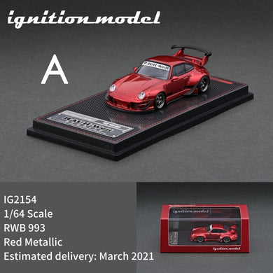 Preorder - Ignition Model RWB 993 IG2154 red Metallic - Release Date : Mar 2021