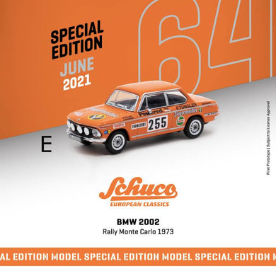 PreOrder - Tarmac Works x Schuco 1/64 BMW 2002 Rally Monte Carlo - Release Date : Jun 2021