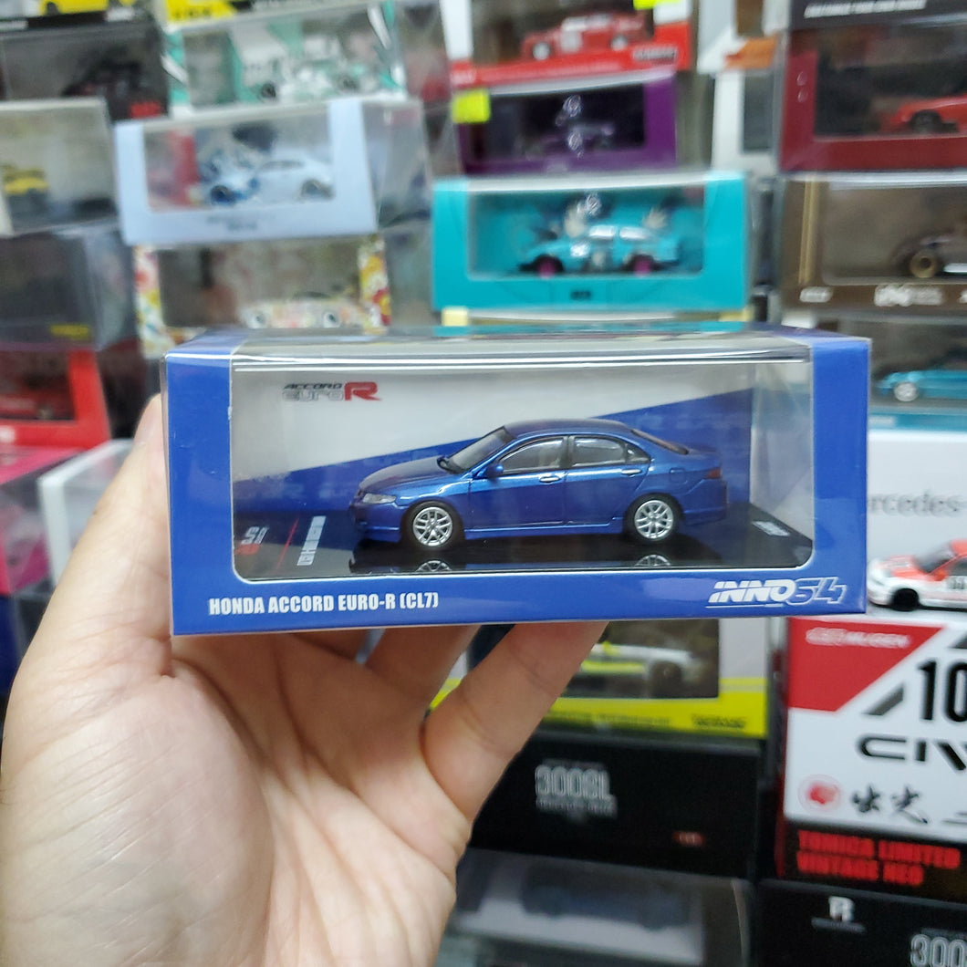 INNO64 1/64 HONDA ACCORD Euro-R (CL7) Artic Blue Pearl W/ Extra Wheels & Extra Water Decals