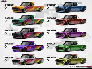 Preorder ~ Overhead  Crew x Superscale Hero (Project SH02/21) 1/64 Diecast Model Datsun 620 by MCE - ETA : TBA