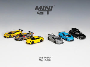 Preorder - Mini GT 1/64 LBWORKS Lamborghini Huracán GT FIGHTERS WORKS Audi RS 6 Avant Mythos Black Metallic Chevrolet Corvette Stingray Porsche 911 (992) Carrera 4S Chevrolet Corvette C8.R #3/4 2020 IMSA 24 Hrs of Daytona - Release Date : Aug 2021