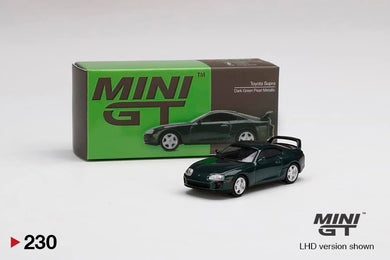 Preorder -  MINI GT Mini GT Toyota Supra Dark Green Pearl Metallic No.230 Release Date : May 2021