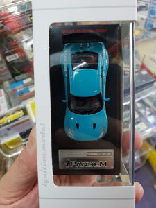 Tarmac ignition model 1:64 Pandem TRA Racing IG1401 Nissan GT-R Turquoise Blue ( Free Shipping Worldwide !!! )
