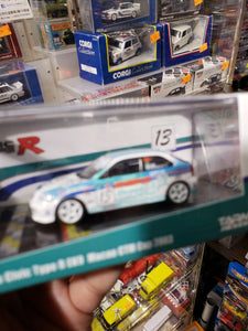 Tarmac Works 1:64 Honda Civic Type R EK9 CTM Ao Chi Hong Macau GP 2018