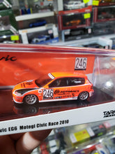 Load image into Gallery viewer, Tarmac Works 1/64 Honda Civic EG6 Motegi Civic Race 2010 #246