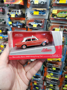 Schuco 1/64 Mercedes Benz 200D HK Taxi Red