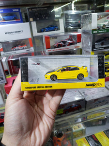 Inno64 Honda Civic FD2 1/64 Yellow Body Black Hood Singapore Exclusive