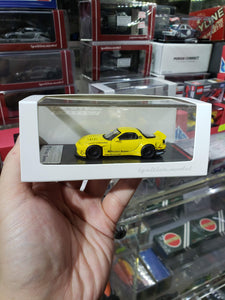 Ignition Model 1/64 Rocket Bunny RX-7 (FD3S) Yellow (Tarmac Works Exclusive) ig1410