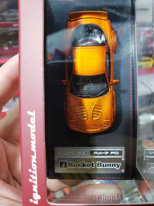 Ignition Model 1/64 Rocket Bunny RX-7 (FD3S) Orange Metallic ig1650