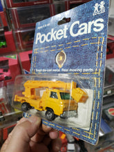 Load image into Gallery viewer, 1974 Pocket Cars Yellow Power Company Service Truck Mint In Package Tomy Tomica