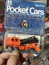 Load image into Gallery viewer, Fuso Truck Crane 1974 In Package Pocket Cars Tomica No 141-66 Heavy Crane 4514