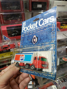 Tomica Tomy Pocket Cars Made in Japan 1974 No. 198-76 Pepsi-Cola Truck on Card