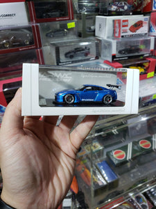 Tarmac ignition model 1:64 Pandem TRA Racing Nissan GT-R Metallic Blue ig1400