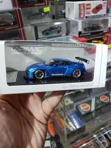 Tarmac ignition model 1:64 Pandem TRA Racing Nissan GT-R Metallic Blue ( Free Shipping Worldwide !!! )