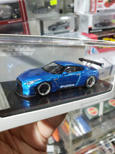 Load image into Gallery viewer, Tarmac ignition model 1:64 Pandem TRA Racing Nissan GT-R Metallic Blue ( Free Shipping Worldwide !!! )