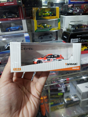 Tarmac Works 1/64 Honda Civic EG6 Gr.A Racing Idemitsu Motion #100