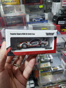 Tarmac Works 1/64 Toyota Supra RSR D1 Drift Car Hong Kong Web Exclusive