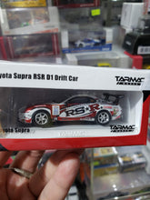 Load image into Gallery viewer, Tarmac Works 1/64 Toyota Supra RSR D1 Drift Car Hong Kong Web Exclusive