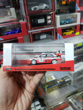 Load image into Gallery viewer, Tarmac Works 1/64 Mitsubishi Evo V Sanremo Rally 1998 Winner Makinen Mannisenmaki