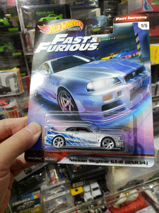 Hot Wheels Fast & Furious Premium Nissan Skyline R34 Real Riders
