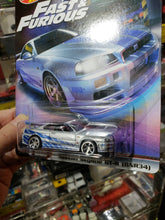Load image into Gallery viewer, Hot Wheels Fast & Furious Premium Nissan Skyline R34 Real Riders