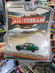 Greenlight All Terrain 1972 Datsun 510 Rally Chase Green Machine