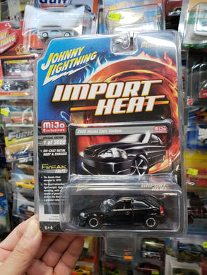 Johnny Lightning Import Heat Mijo Exclusive 2000 Honda Civic Custom Black