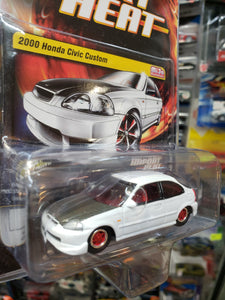Johnny Lightning Import Heat Mijo Exclusive 2000 Honda Civic Custom White