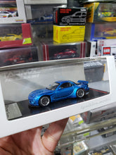 Load image into Gallery viewer, Tarmac Works 1/64 x ig ignition Models Rocket Bunny RX-7 FD3S Blue Metallic