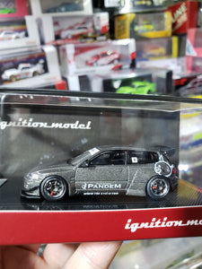 Tarmac Works 1/64 x ig ignition Models Honda Civic Pandem EG6 Gun Metallic ( Free Shipping Worldwide !!! )