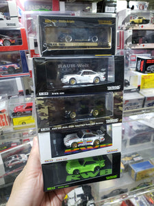 Set of 5 Tarmac Porsche 930 RWB Raul-Welt Begriff Lime Green Stella Stellaartois Container Apple ( Free Shipping Worldwide )