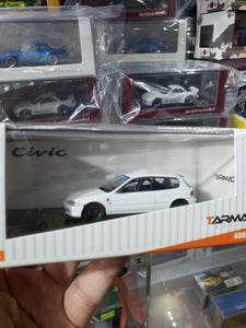 Tarmac Works 1/64 Honda Civic EG6 Gr.A Racing Plain White