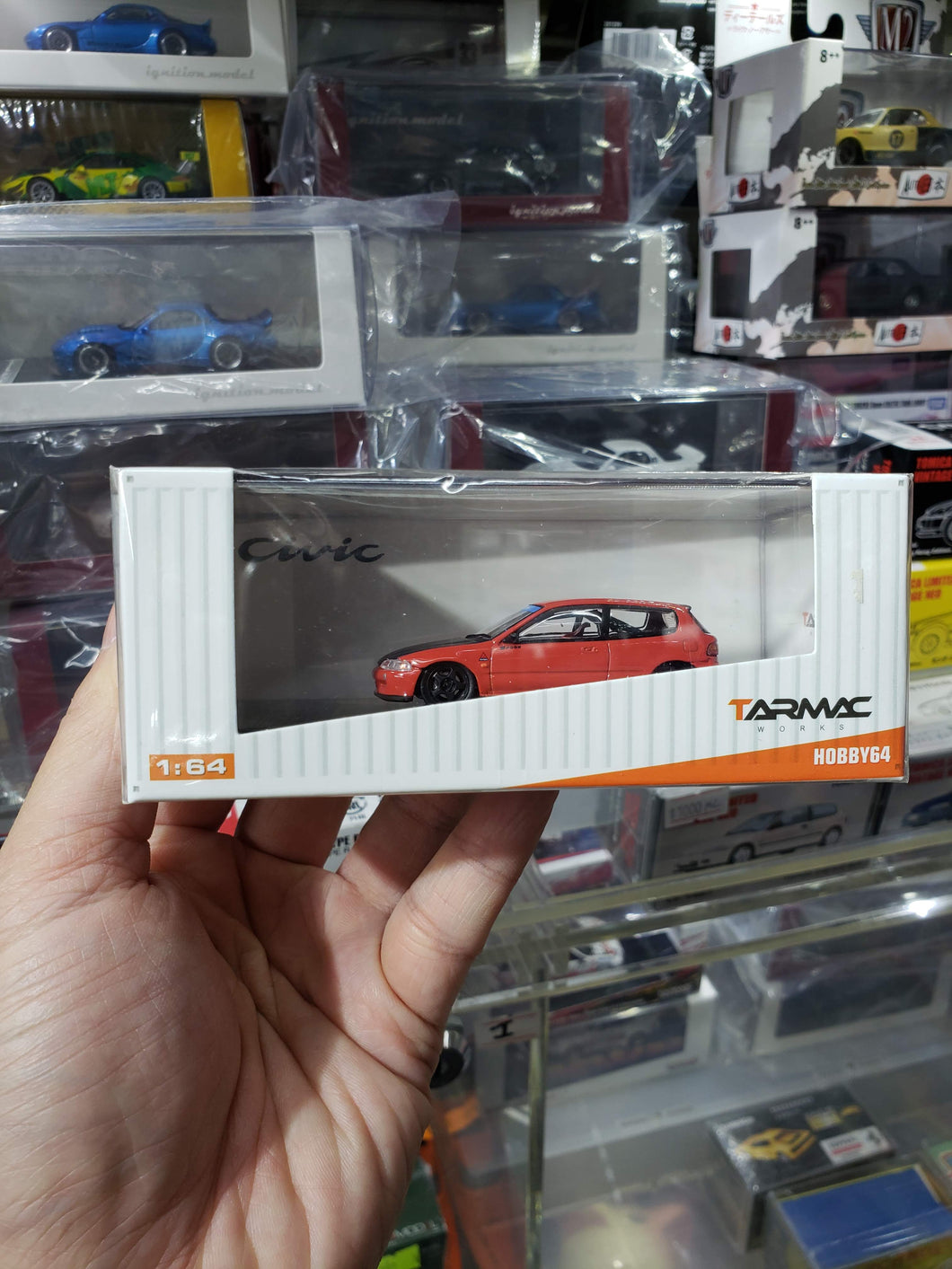 Tarmac Works 1/64 Honda Civic EG6 Gr.A Racing Red