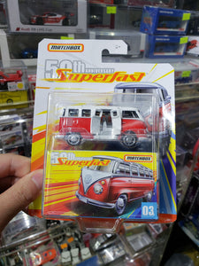 MATCHBOX 2019 50TH ANNIVERSARY SUPERFAST '59 VOLKSWAGEN 23 MICROBUS